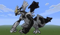 Black Kyurem Pixel Art Minecraft