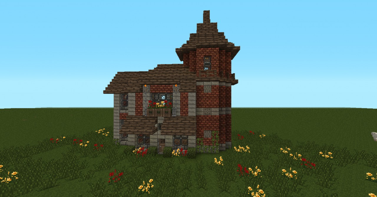 Small Victorian House  Brick  Minecraft Project