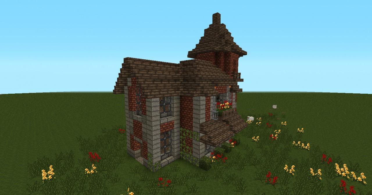 small victorian house brick minecraft project