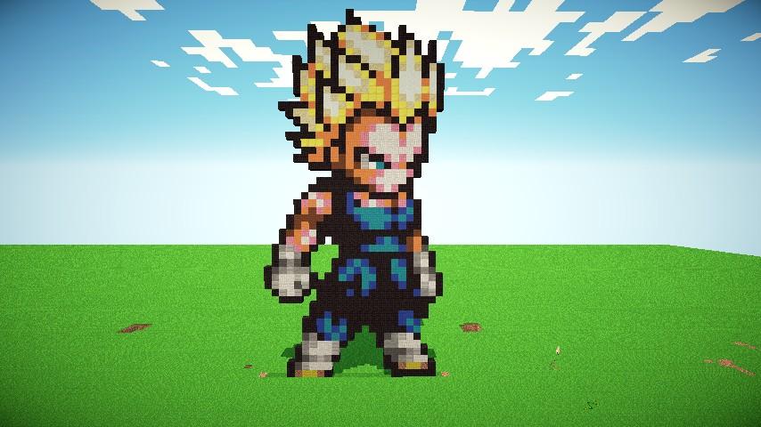Minecraft Diamond Template Vegeta Pixel Art Minec...