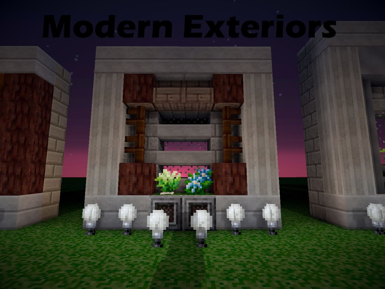 How to make a modern exterior minecraft blog for House decoration stuff
