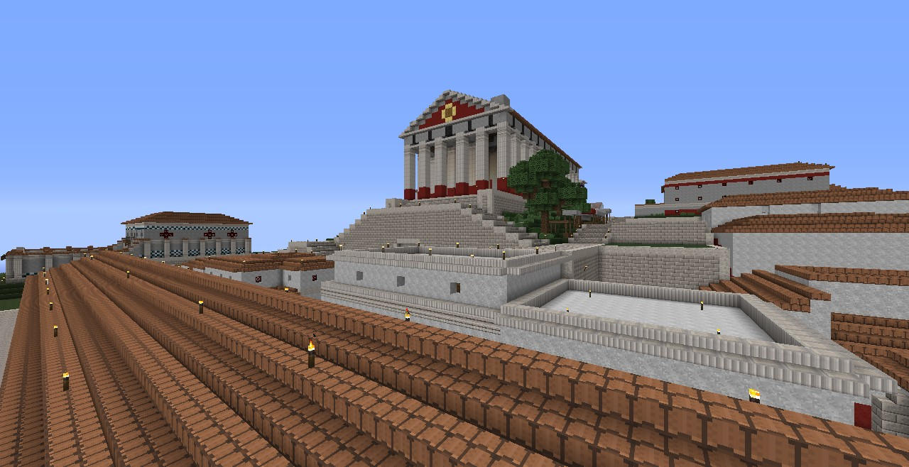 Greek Architecture Minecraft classical antiquity - version 0.8 (beta/wip/basic 1.4 compatible