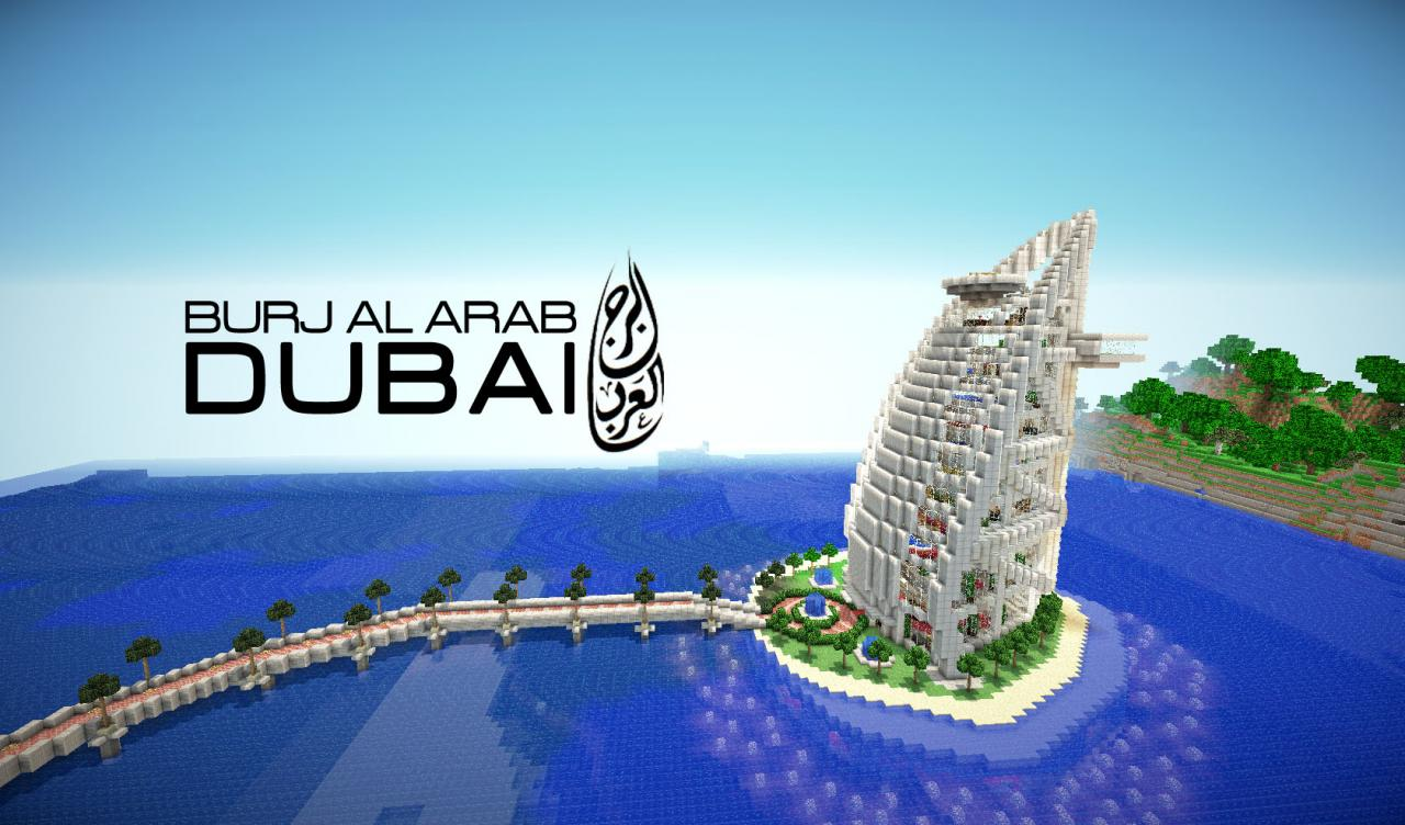 Burj al arab hotel dubai minecraft project for The big hotel in dubai