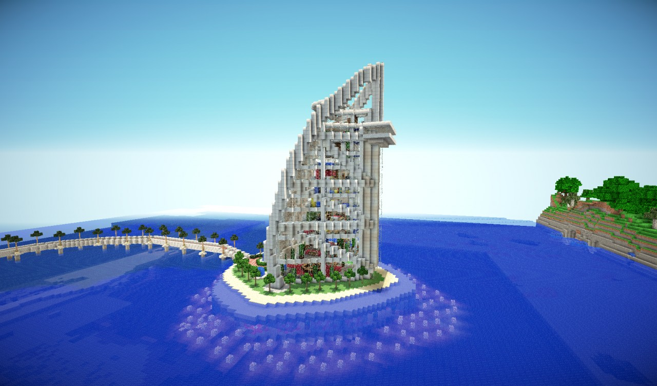 Burj al arab hotel dubai minecraft project for Burj arab dubai