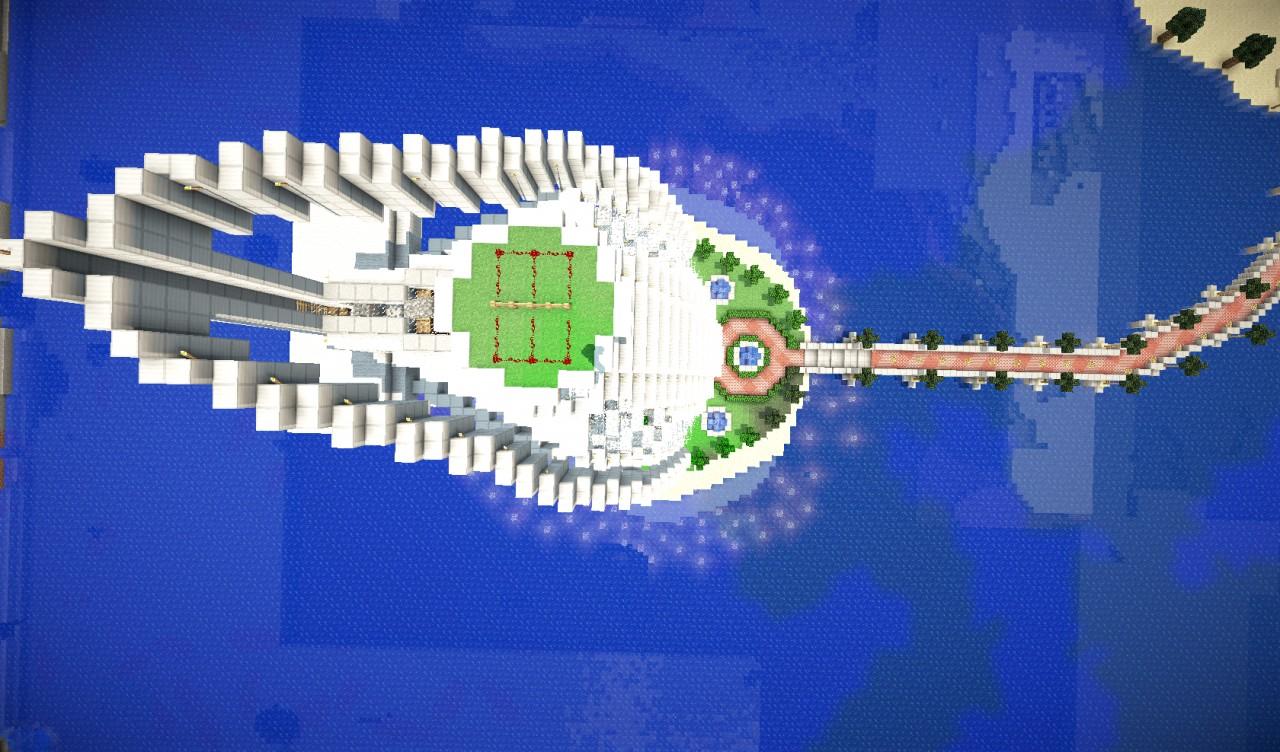 Burj Al Arab Hotel Dubai Minecraft Project