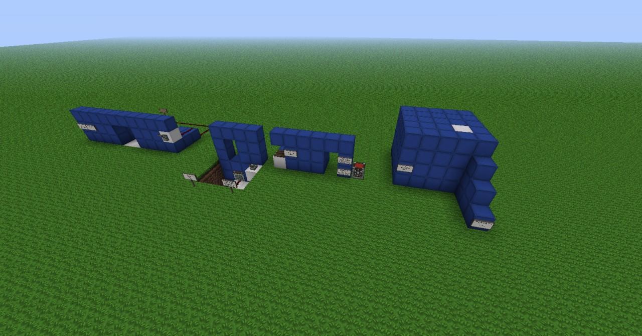 3 Simple Redstone Doors 1 Hidden Floor Minecraft Project
