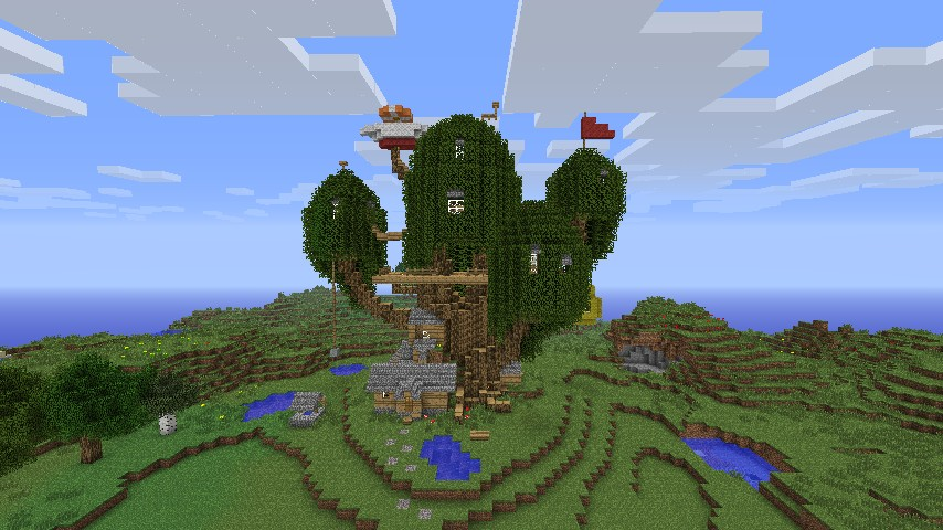 Adventure time tree house minecraft project for Time to build a house