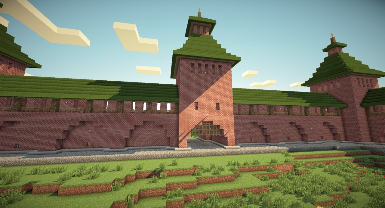 Russian style kremlin fortress minecraft project for Fortress house