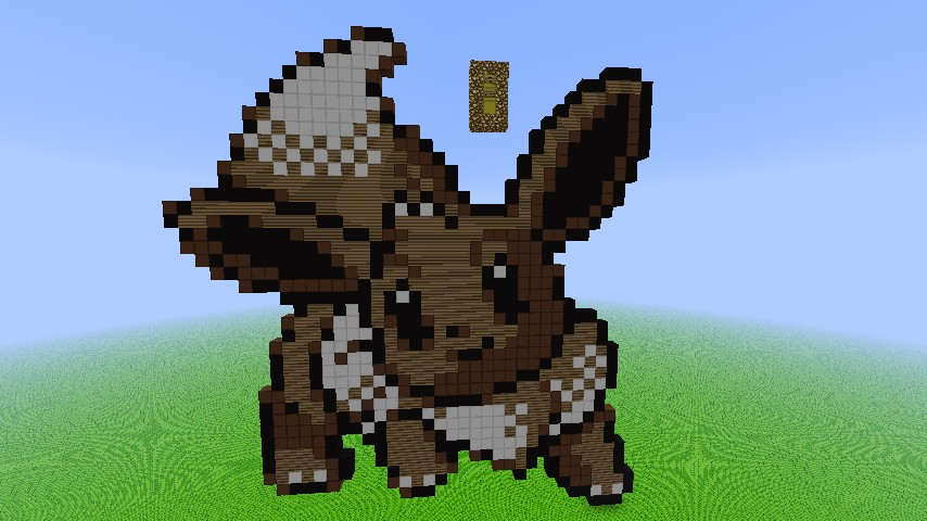 how to build pokemon in minecraft step by step