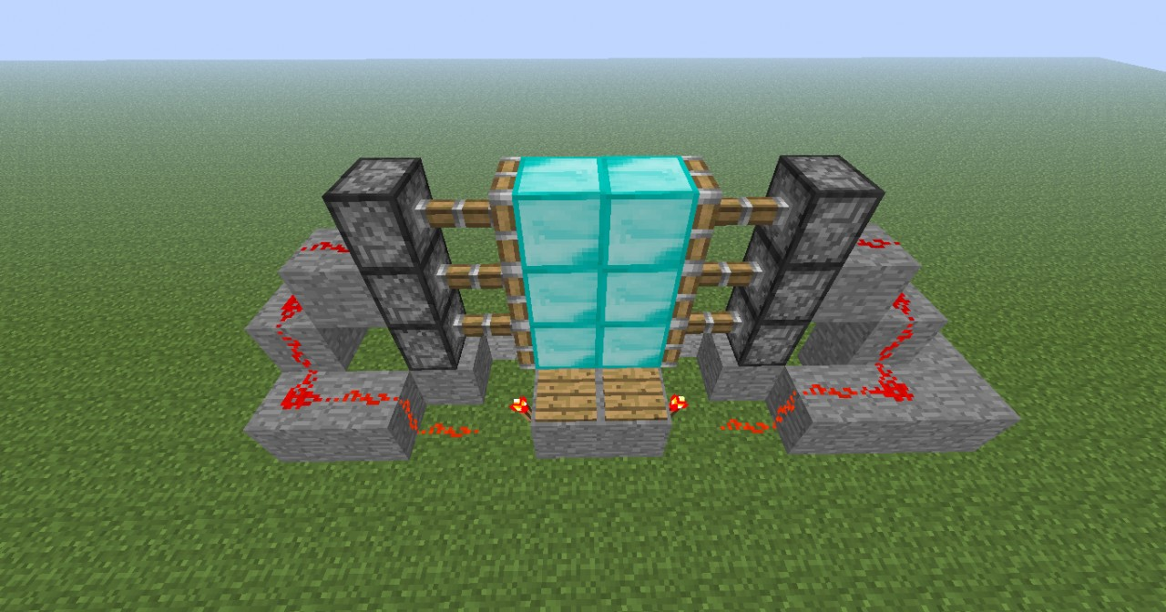How to build a door with pistons in minecraft