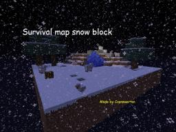 survival map snow block. Minecraft Project
