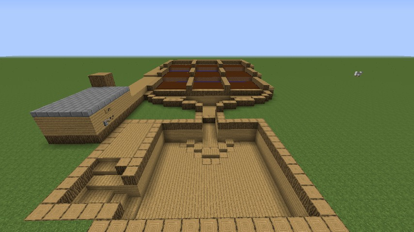 Semi-Automatic Wheat Farm Minecraft Project