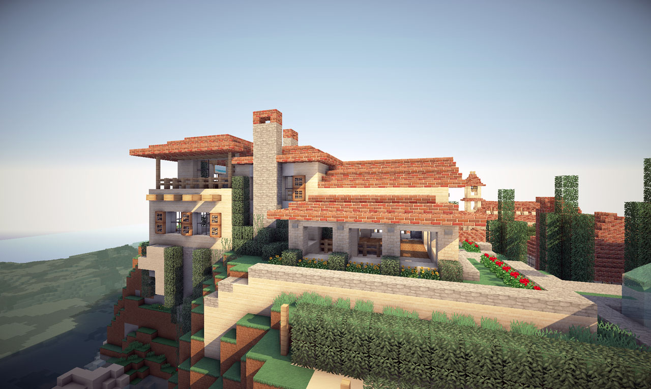 Italian villa on world of keralis minecraft project - Minecraft villa ...