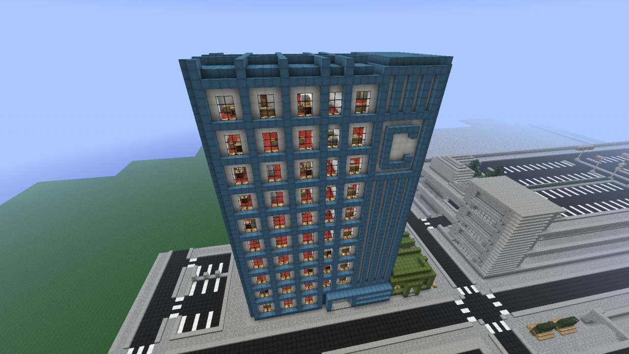 Modern city goldencraft city minecraft project for Minecraft modern