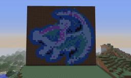 Pixel art Simba Minecraft Map & Project