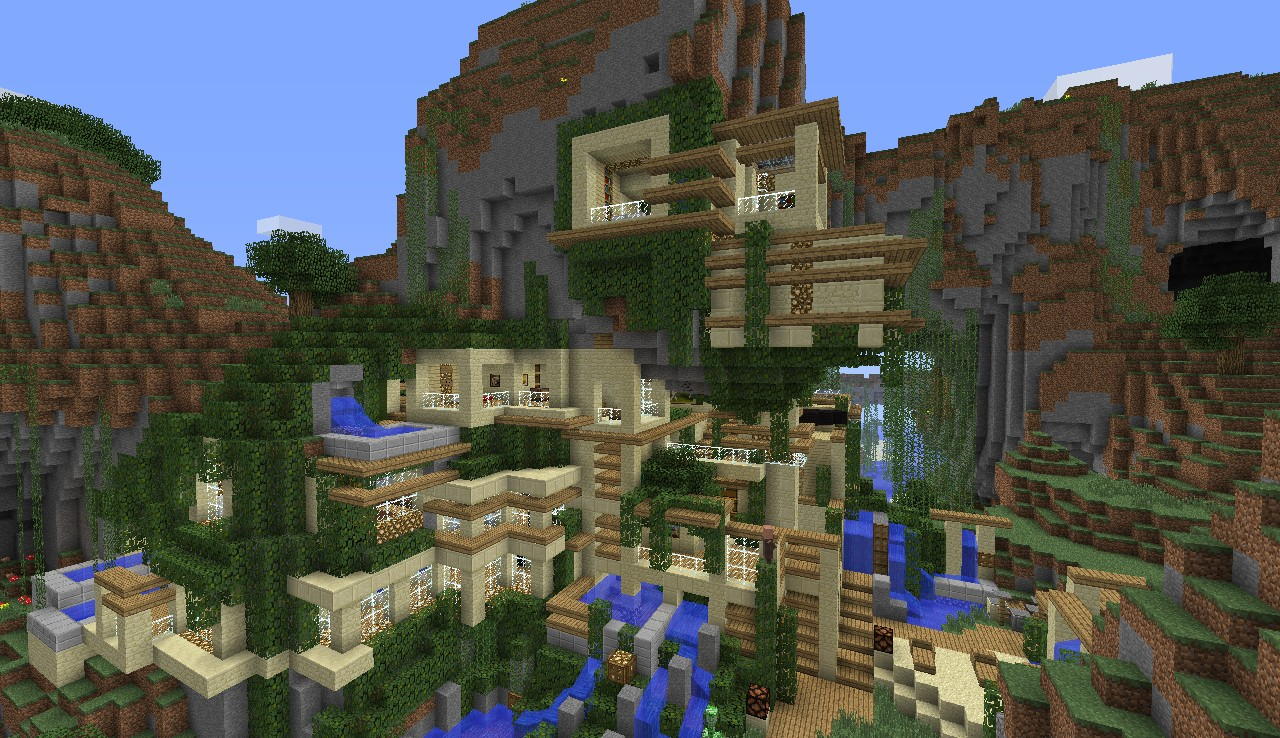 Modern House  Cliff  Mountain  Minecraft Map
