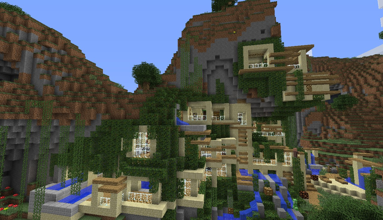Modern House [Cliff/Mountain] Minecraft Map