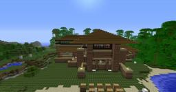 Brick house on the lake. Minecraft Map & Project