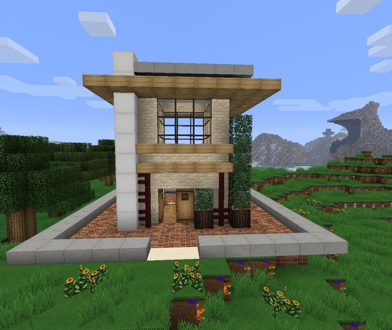 Mini Modern House 3x3 Minecraft Project