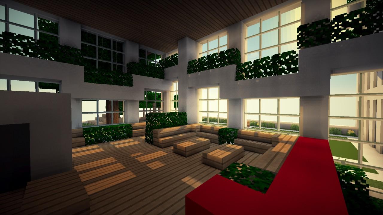 Minecraft Hotel Lobby And Interiors On Pinterest