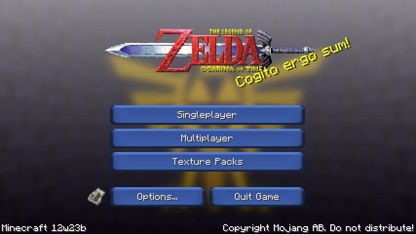 The Legend Of Zelda Ocarina Of Time V Minecraft Texture Pack - Skins para minecraft pe zelda