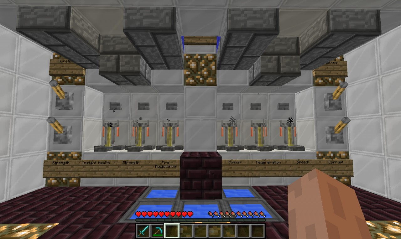 Potion Room Guarded By Combonation Lock! Minecraft Project