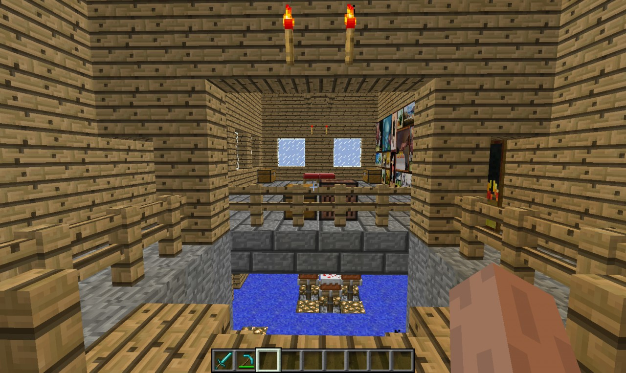 Potion Room Guarded By Combonation Lock Minecraft Project