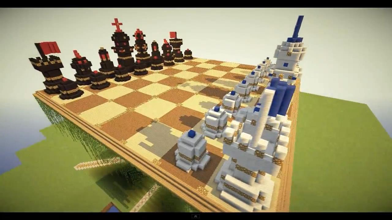 Minecraft Megaobject Chess Board W Table Minecraft Project