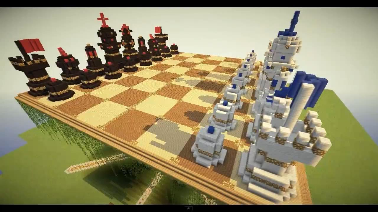 Minecraft megaobject chess board w table minecraft project for Minecraft coffee table