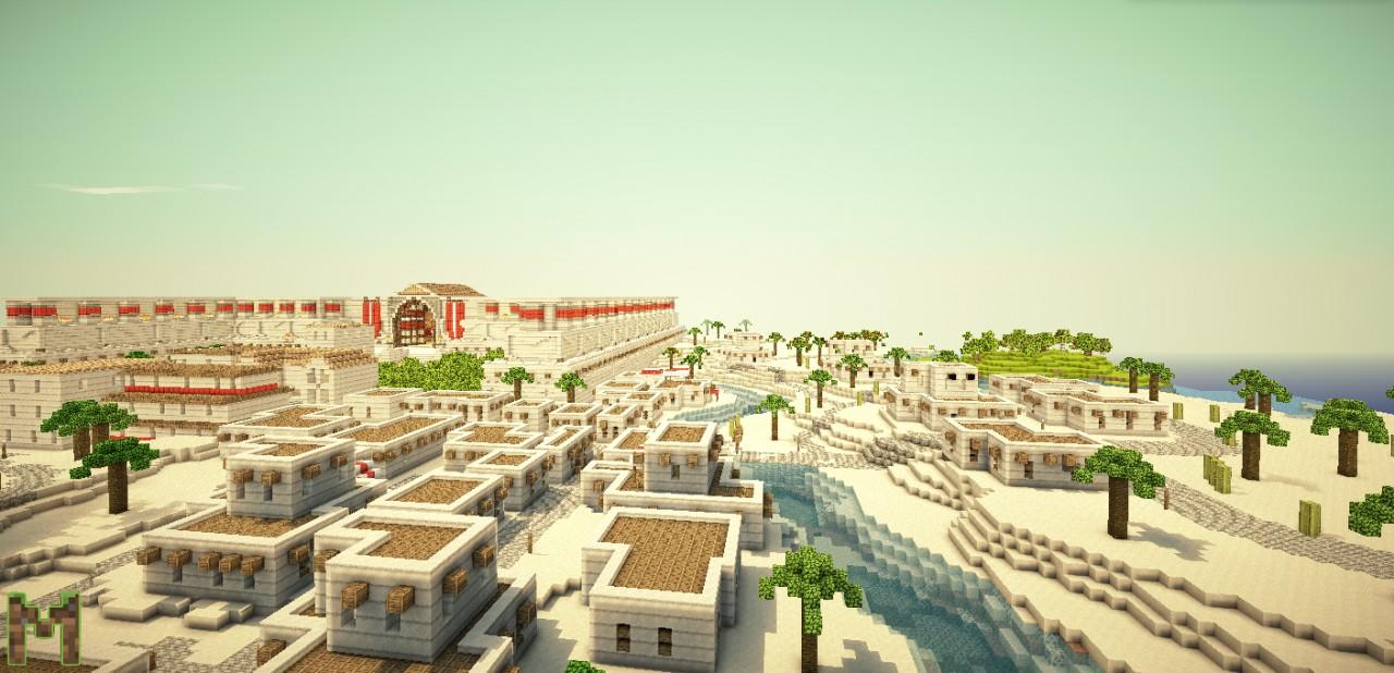 Egypt Amp Roman Trade City Minecraft Project