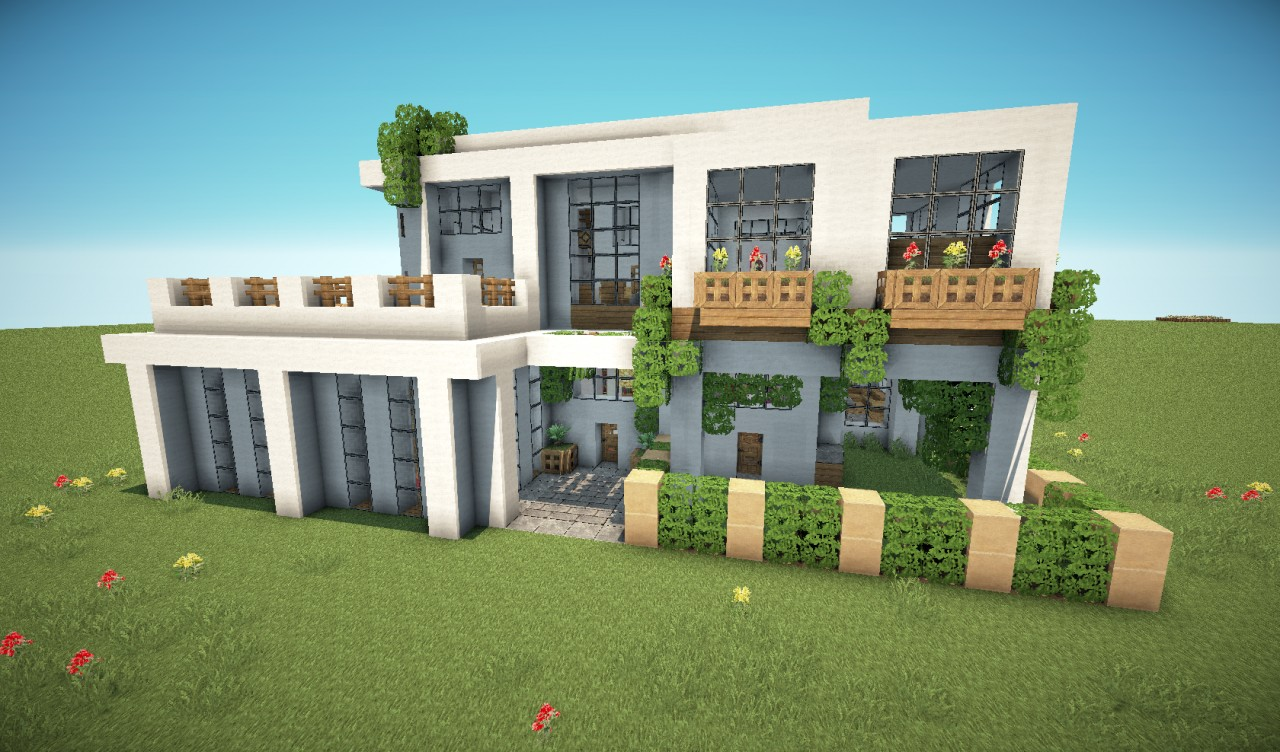 Modern house pack 5 houses minecraft project for Modern house mc