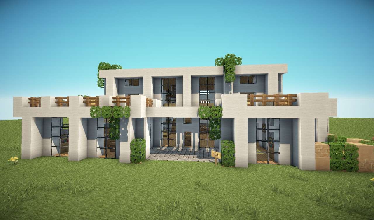 Modern house pack 5 houses minecraft project for Mordern house