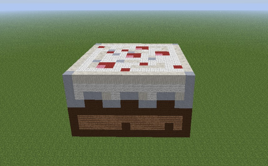 Cake Pixel Art Minecraft Project
