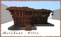 Merchant Villa -- Medieval / Fantasy Mansion Minecraft Map & Project