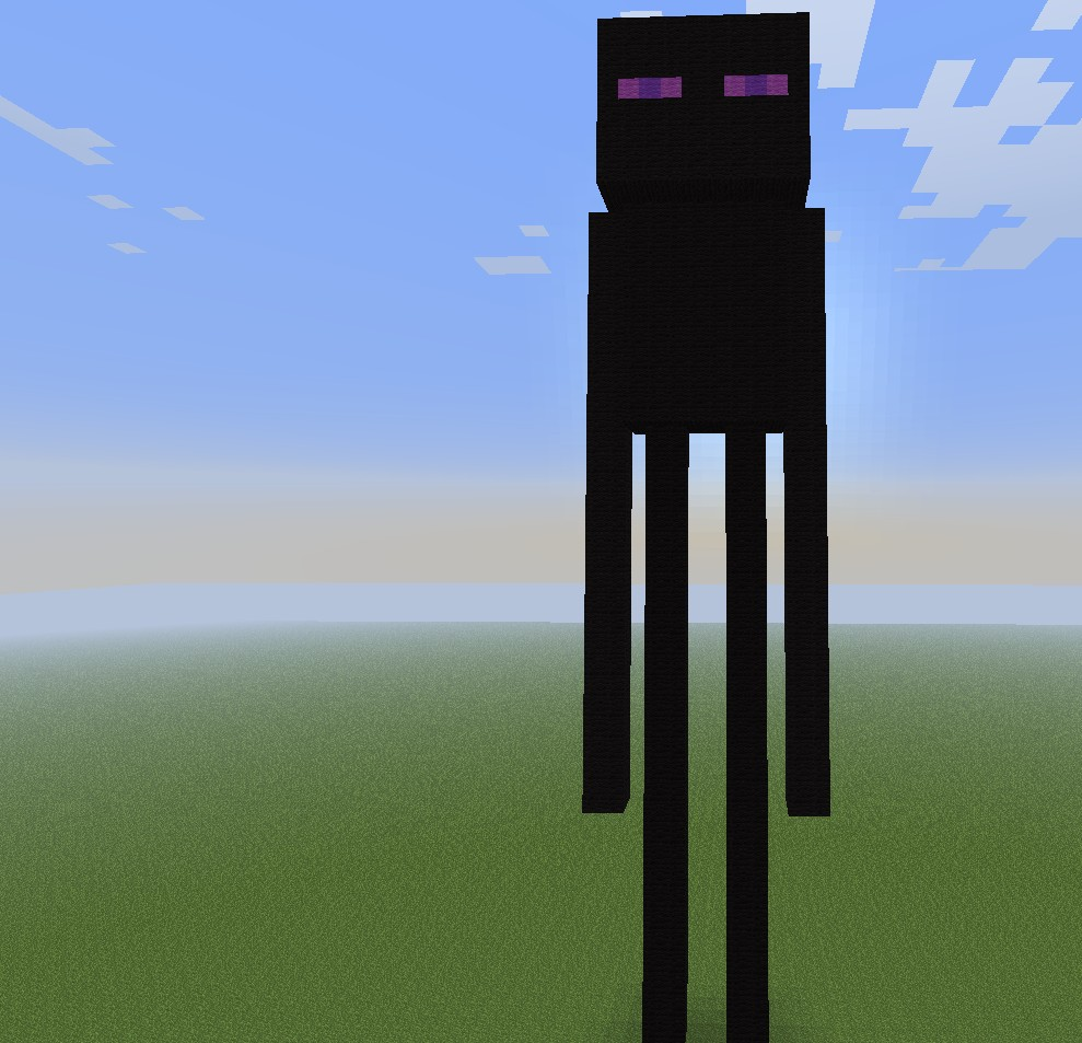 enderman pixel art minecraft project