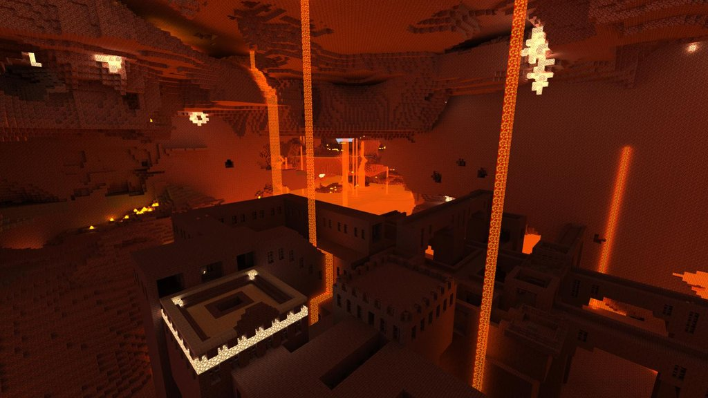 Nether's were its at! Why build your home in the boring old world when you can live in the darkness of hell!