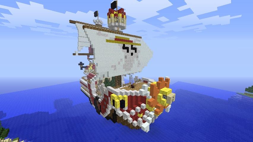 Minecraft Big Builds Thousand Sunny One Piece Minecraft