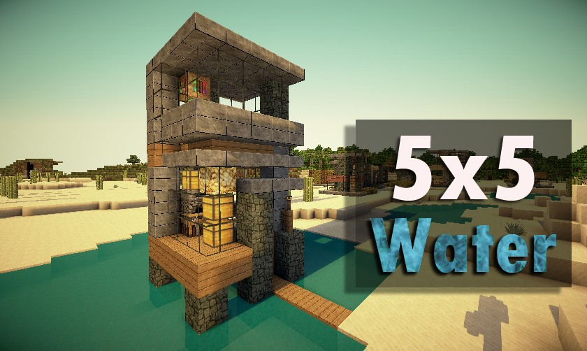 5x5 water top house minecraft project for Modern house 5x5