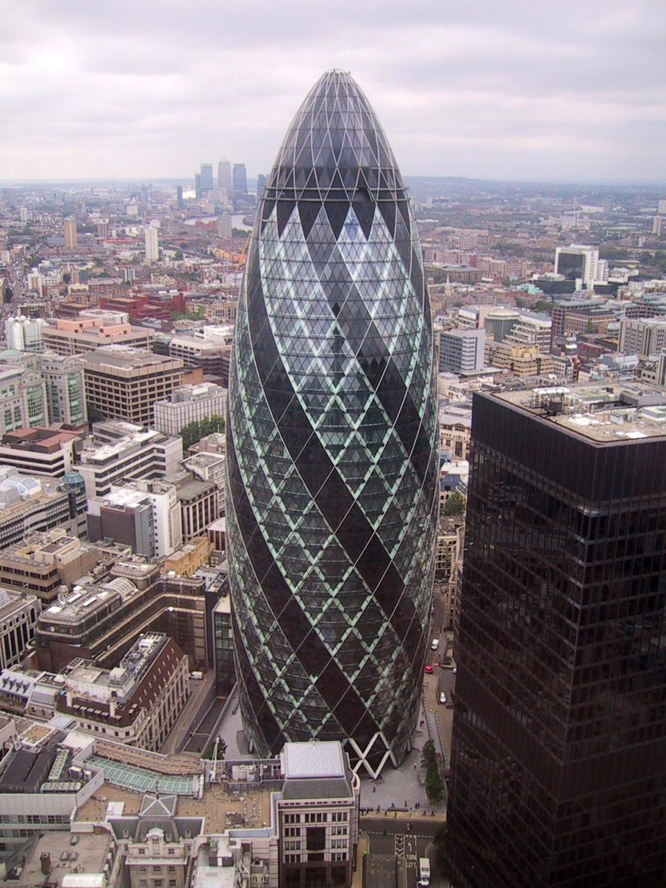 30 St Mary Axe Aka Gherkin Minecraft Project