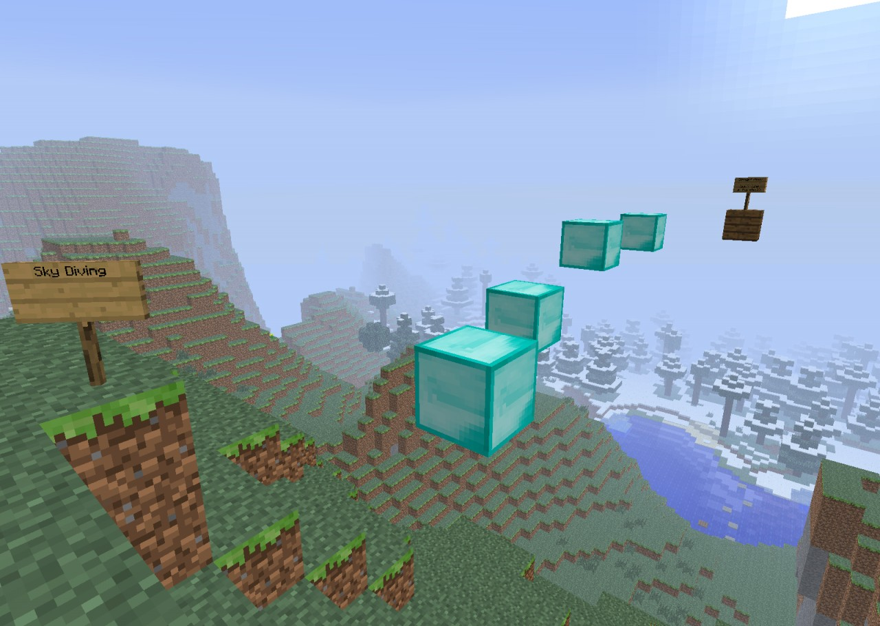 First parkour map minecraft project