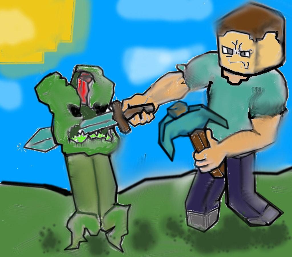 Steve and creeper minecraft blog - Minecraft creeper and steve ...