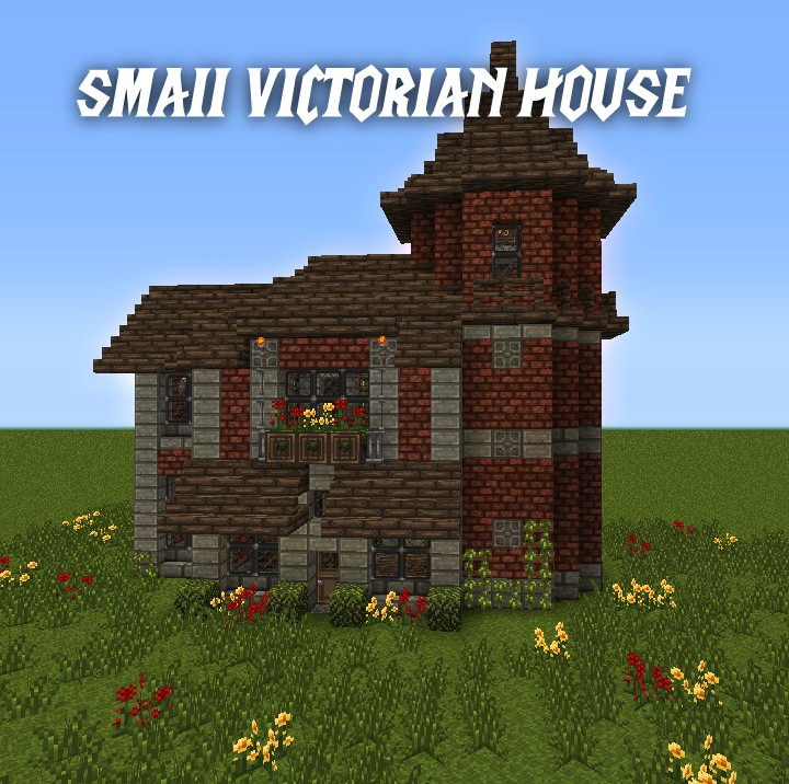 minecraft how to build brick hourse