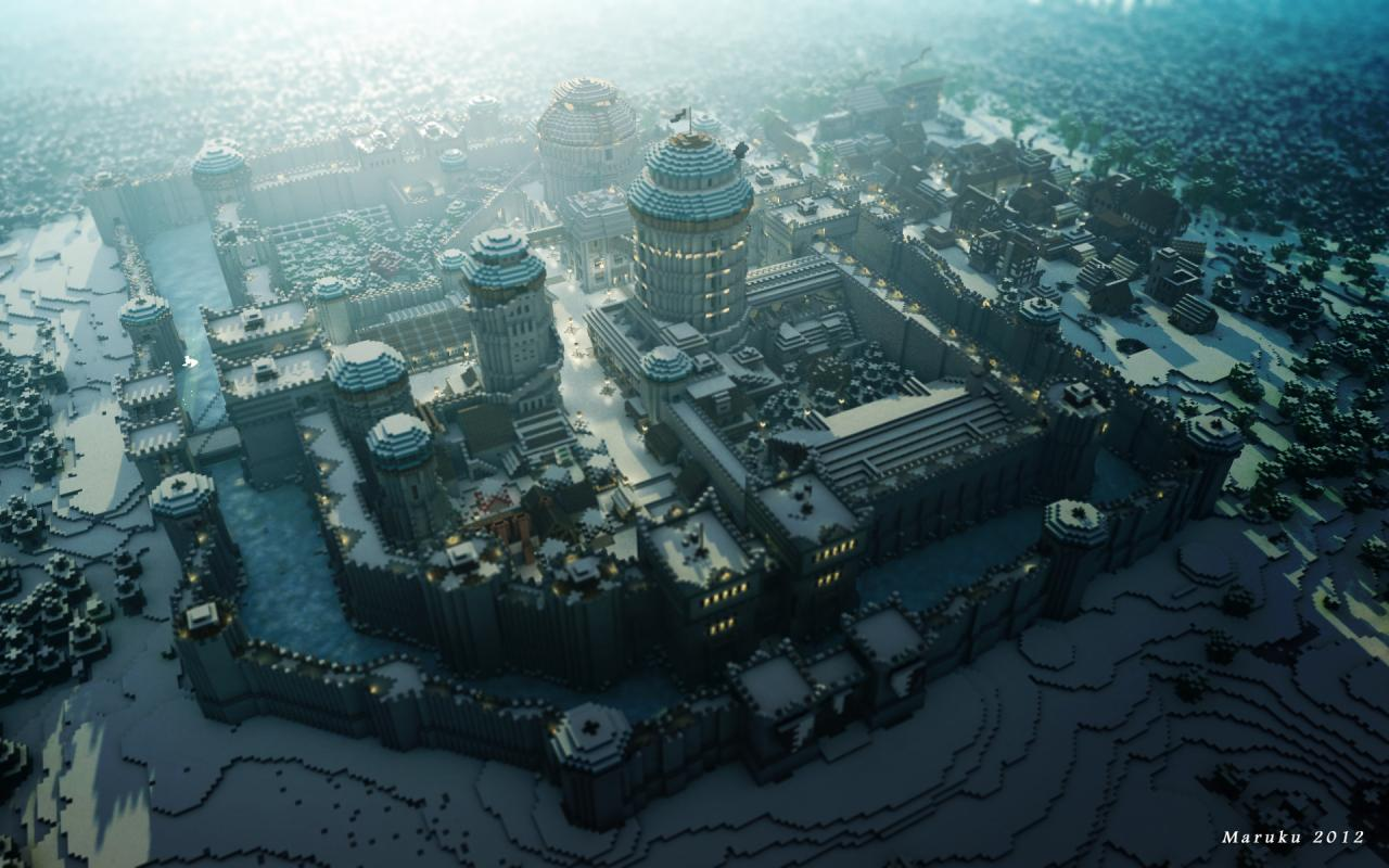 Showcase Winterfell Minecraft Project