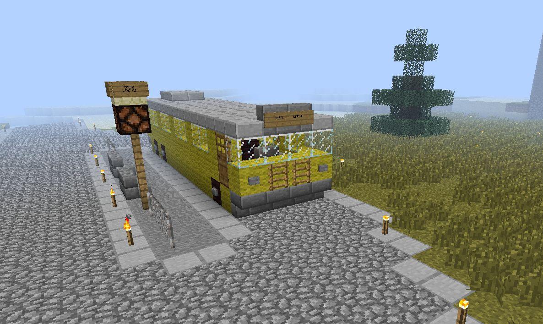 Public Transport Bus Service Minecraft Project
