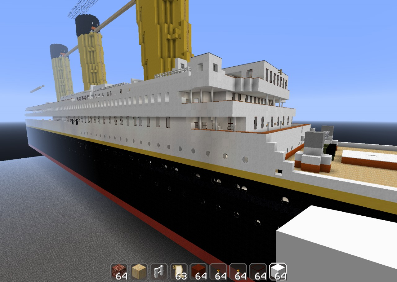 1 1 Most Detailed Titanic Ever Unfinished Minecraft Project