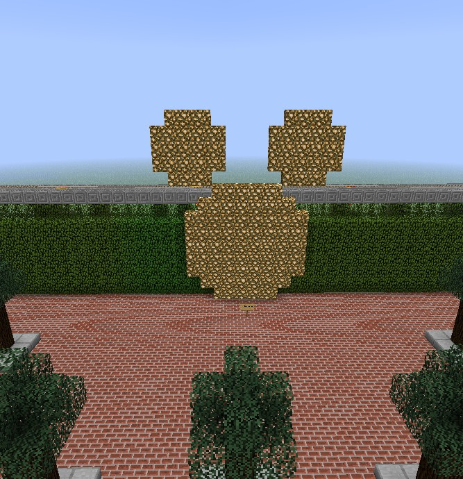 Mickey Mouse at the Entrance.