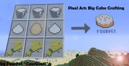 Pixel Art -  Big Cake Crafting Minecraft Map & Project