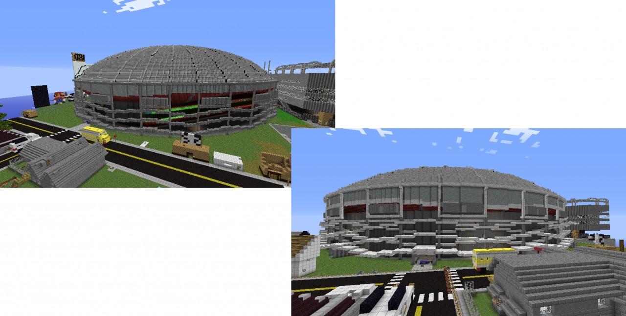 Baseball Stadium Kingdome Minecraft Project