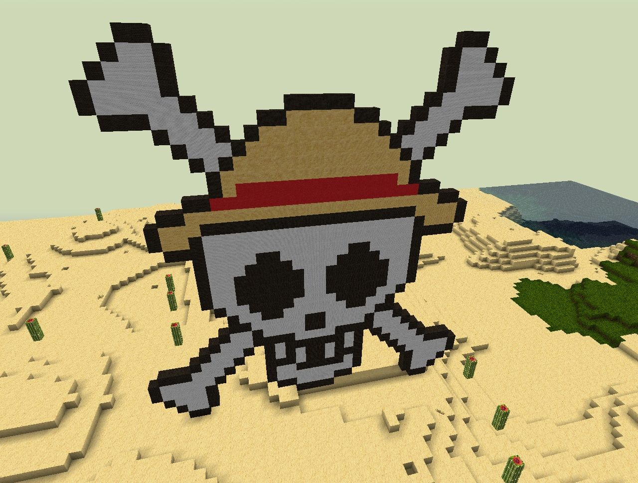 Straw Hat Pirates Logo One Piece Minecraft Map