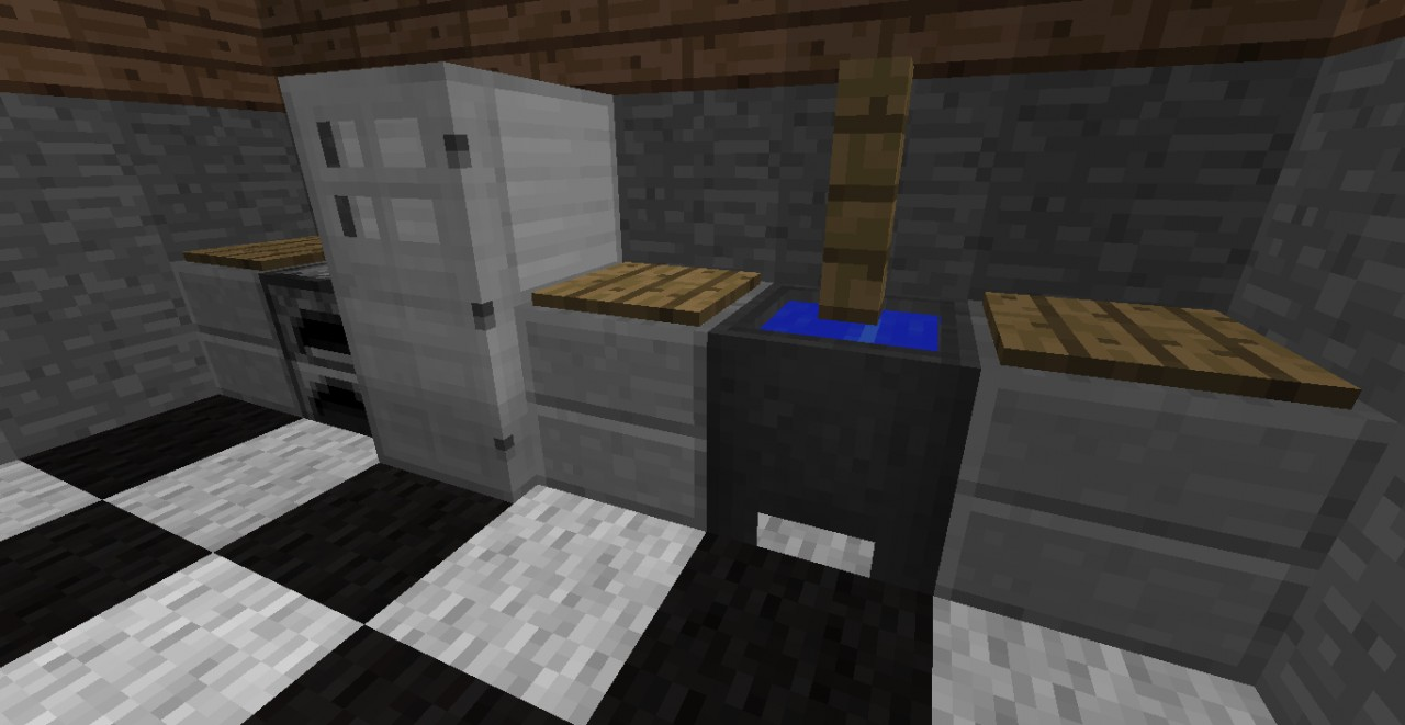 how to make a kitchen in minecraft.  Kitchen Step 7 Fill Empty Spots With The Counter Of Your Choice To How Make A Kitchen In Minecraft T